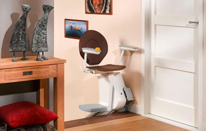 Space maximising Stairlift - Ultra-Thin Chairlift