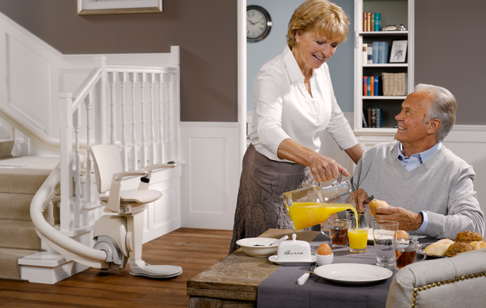 A stairlift can help manoeuvre around your house safely again Otolift