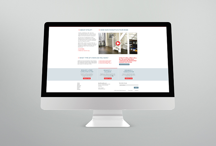 Otolift Stairlifts New Website Preview
